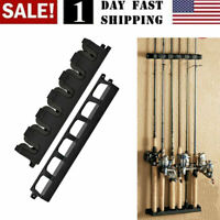 US! Vertical Rod Rack Fishing Boat Gear Pole Storage Stand Holder Wall FishTool