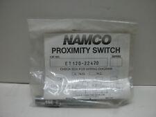 NAMCO ET120-22420 PROXIMITY SWITCH N.O. AC TUBULAR THREADED BARREL SERIES NIB