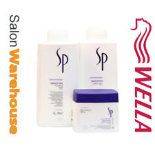 Wella SP System Professional SMOOTHEN SHAMPOO + CONDITIONER Litre + Mask 400ml