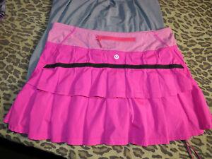 Lululemon 6 Pacesetter Skirt Paris Pink Wee Stripe EUC! Very Rare!