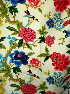 "2 Candid Moment Gardenia Lined Waverly 50""x83"" Curtain Panels w/Tiebacks."