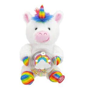 "🦄 Rainbow White Unicorn Singing ""Celebrate Good Times"" dancing with LED Words🥳"