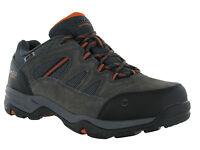 Hi-Tec Waterproof Bandera Charcoal Leather Lace Walking Hiking Mens Trainers