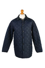 Vintage Barbour Quilted Jacket Mens Smart Retro Outerwear Size M Navy - C1949