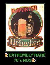 RARE! 70's Imported HEINEKEN Dutch Miller Coors Bud Beer Vtg NOS t-shirt iron-on