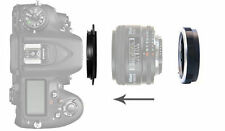77mm Macro Reverse Adattatore per Nikon F Mount Lens al + Anello Di Filtro Di Protezione UK
