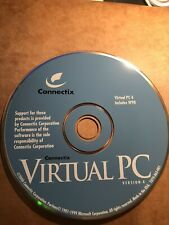 Virtual PC V4 Connectix Includes W98 CD Software for Macintosh
