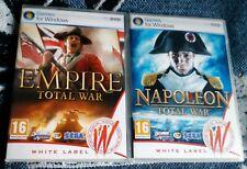 Empire & Napoleon Total War PC/DVD SEGA White Label For Windows