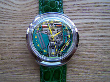 Accutron 214 Yellow Dot Spaceview B Turtle Lug Tuning Fork Rebuilt Great + Box!
