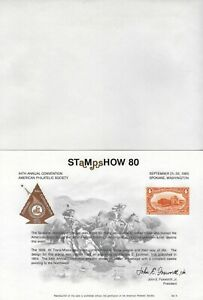UNITED STATES - STAMPSHOW '80 PHILATELIC EXHIBITION SOUVENIR CARD & ENVELOPPE