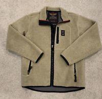 Vintage Abercrombie & Fitch Gray Sherpa Fleece Full Zip Men's Size S