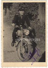Altes Foto Oldtimer Motorrad / Feuerwehr / Polizei 1950