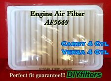 AF5649 Premium Engine Air Filter for 2007-2015 Camry 4cyl & 2009-2015 Venza 4cyl