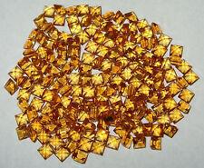 4mm Beautiful Color Brazil TOP Gold Citrine Square Princess Cut