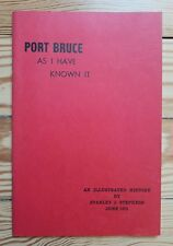 Port Bruce as I Have Known It, 1975 Illustrated History Ontario Canada Lake Erie