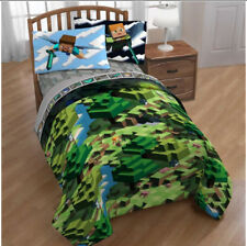 Minecraft Builders Boys Full Comforter & Sheet Set (5 Piece Bed in A Bag)