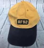 90s VTG ABERCROMBIE & FITCH LEATHER STRAPBACK Hat Dad Cap Relaxed 1992 92 Logo