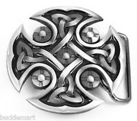 CELTIC KNOT Cross Belt Buckle Irish Scottish gift