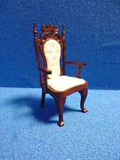 1/12 scale Dolls House Furniture   Carver Chair     Mahogany     DHD3268A