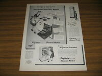 1947 Vintage Ad Frigidaire Electric Range,Refrigerator,Hot Water Heater