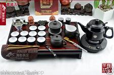 Chinese purple clay zisha tea set teapot tea cup tea tray 220V electrical kettle