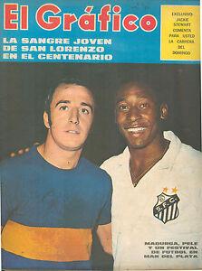 EL GRAFICO # 2624 ARGENTINA SPORT MAGAZINE PELE & MADURGA ON COVER