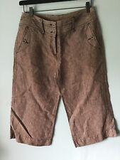 Monsoon Linen Trousers Beige 12 Summer 3/4