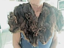 Vintage 1940-50s Natural Fur Stole - Stone Marten, 2 Separate Furs With Heads