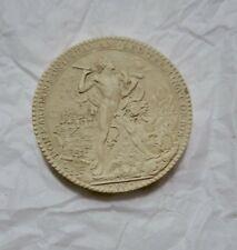 Médaille en plâtre  40 mm.