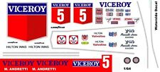 #5 Mario Andretti Viceroy Cosworth 1975 1/64th Scale Slot Car Decal Waterslide