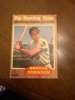 1962 Topps Brooks Robinson Baltimore Orioles #468 Baseball Card