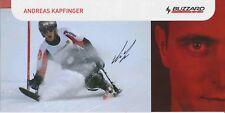 Andreas kapfinger ski alpin freestyle autografiada mapa original firmado 380175