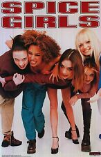 """Spice Girls Music Poster 5 Posed Bending 1997 23""""x35"""" Scary,Baby,Posh,Ginger Org"""