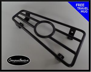 Vespa PX T5 LML floor board rack CUP HOLDER-satin black CLASSIC RACKS