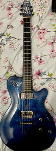 Godin LGX Trans Blue Flame Maple Guitar (with Gig Bag)