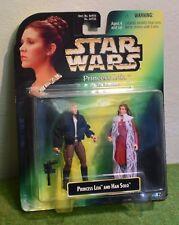 Star Wars Princesa Leia Colección cardada tarjeta verde con han solo