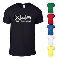 T-Shirt Gamer EAT SLEEP GAME Computer Spiele Controller Nerd