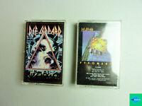 Lot of 2 Def Leppard Cassettes - Hysteria,Pyromania