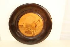 "Vintage Hand Made All Wood with Inlay Center Charger 13.5"" diameter"