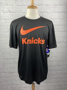 NWT Men's Nike Dri-Fit Knicks T-Shirt Size XL - NBA - Black New W. Tags
