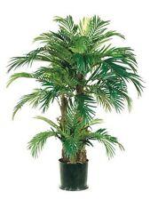4' PHOENIX TRIPLE PALM ARTIFICIAL TREE SILK PLANT BUSH DECOR POTTED HOME DECOR