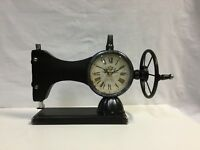 Metal Sewing Machine Clock