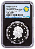 (2017) Smithsonian Morgan First Silver Dollars 1 oz NGC GEM Proof Black SKU47350
