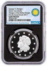(2017) Smithsonian Morgan First Silver Dollars 1 oz Ngc Gem Proof Black Sku47350