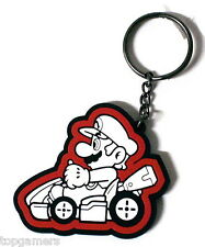 Mario b&w - Mario Kart 8 - Gummi Schlüsselanhänger / keychain / keyring