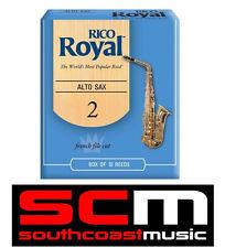 NEW RICO ROYAL ALTO SAXOPHONE 2.0 REEDS BOX OF 10 @SCM! SAX REED