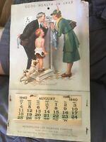 Vintage 1940 Metropolitan Life Insurance Calendar - Norman Rockwell Art Work