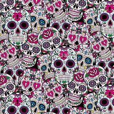 Wassertransferdruck Folie Pink Skulls - 50cm breit