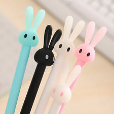 3pcs Cute Cartoon Rabbit Gel Pen School Office Stationary Photo Album Ink Pen