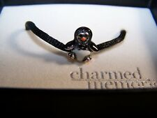 KAY JEWELERS CHARMED MEMORIES MULTI-COLORED PENGUIN STERLING SILVER CHARM BEAD
